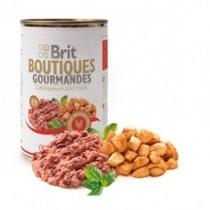 Brit Boutiques Gourmandes bucatele de Rata 400g pateu