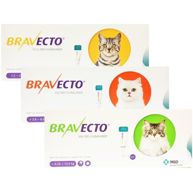 Bravecto Spot On Pisica 2,8-6,25kg 250mg